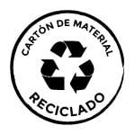 Sello de cartón de material reciclado