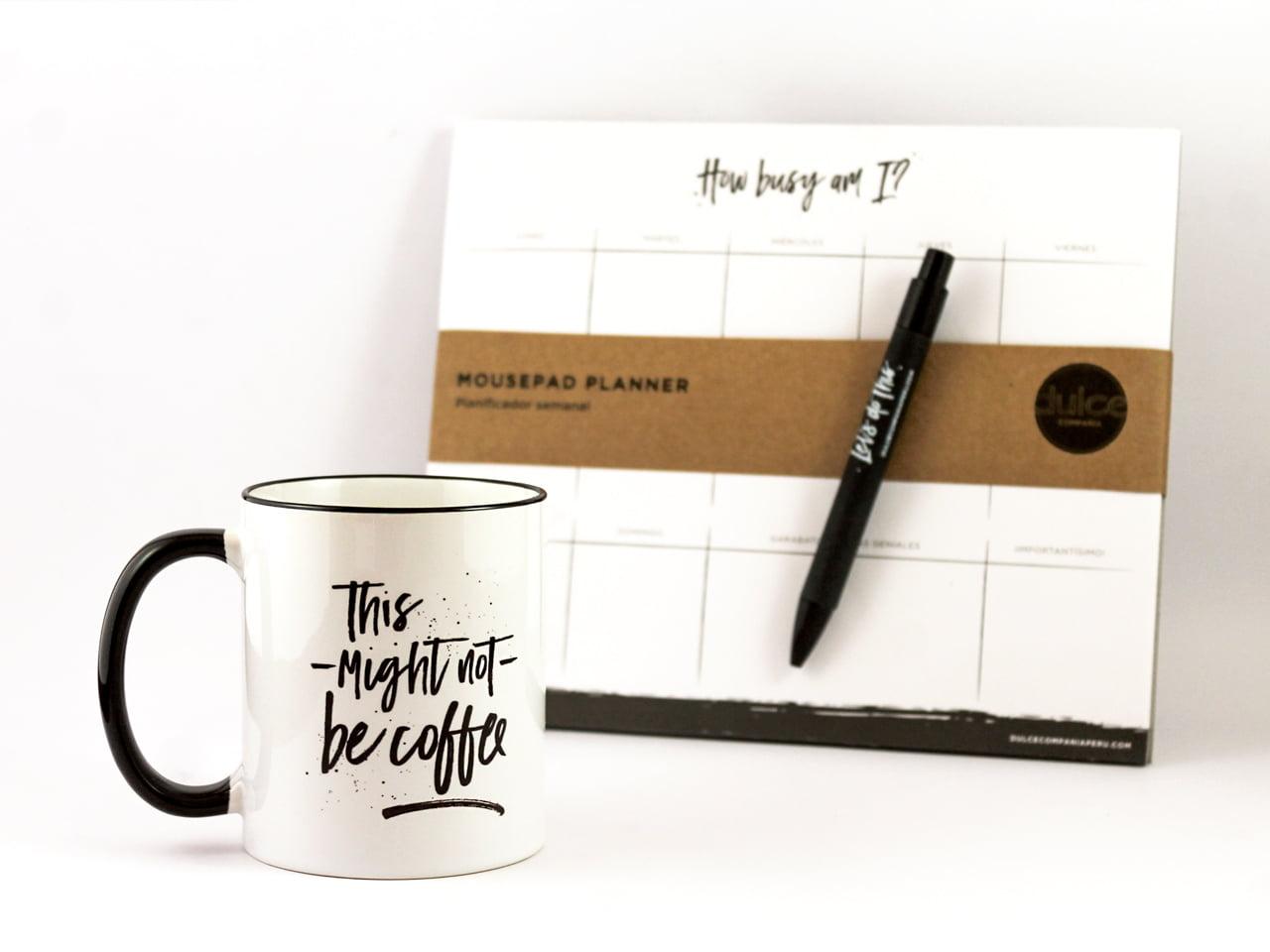 Taza Espresso con Mousepad Planner Dulce Compañía