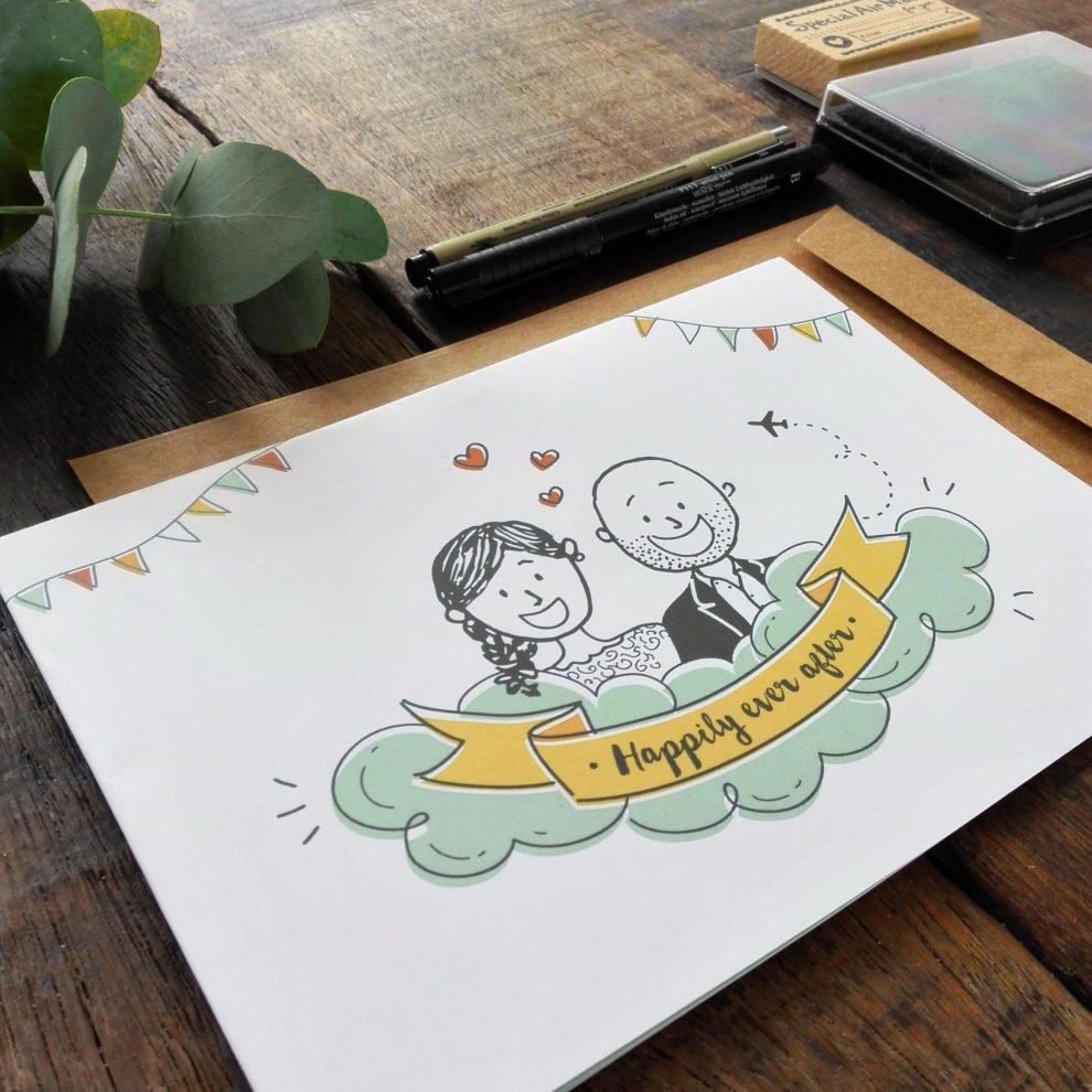 Invitaciones de boda/matrimonio de Dani y André de Dulce Compañía.