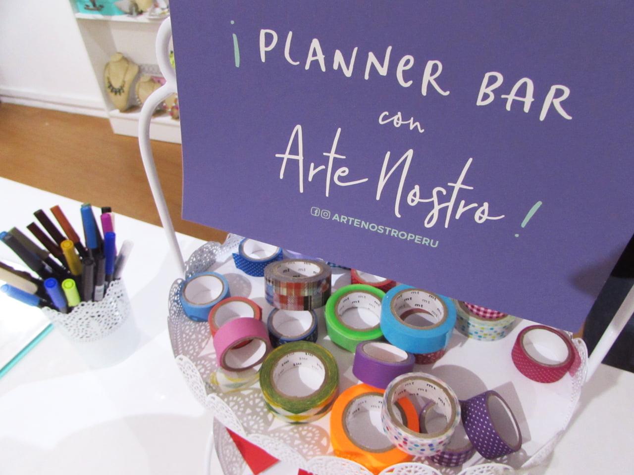 AgenDATE Letrero, washi tapes y tombows de Planner Bar por Arte Nostro