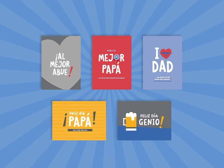 Dia del padre tarjetas de Dulce Compañía
