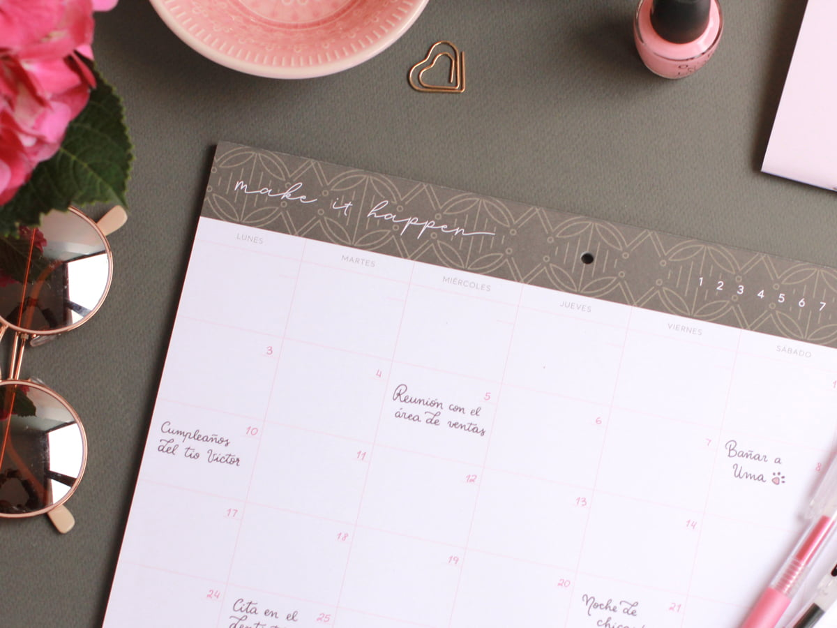 Monthly Planner Merida por Dulce Compañia